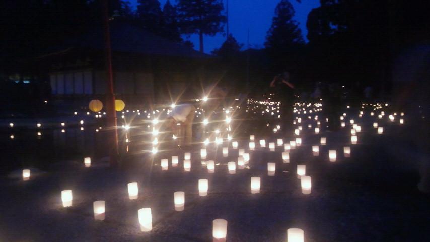龍泉寺、燈花会(9月初旬)